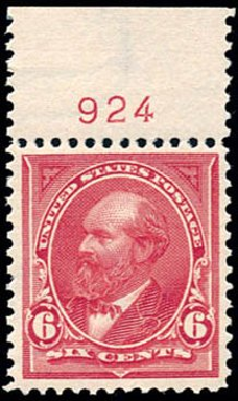 Value of US Stamps Scott Cat. # 282 - 1898 6c Garfield. Schuyler J. Rumsey Philatelic Auctions, Apr 2015, Sale 60, Lot 2761