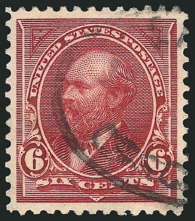 US Stamps Value Scott 282 - 6c 1898 Garfield. Robert Siegel Auction Galleries, Oct 2012, Sale 1032, Lot 3405