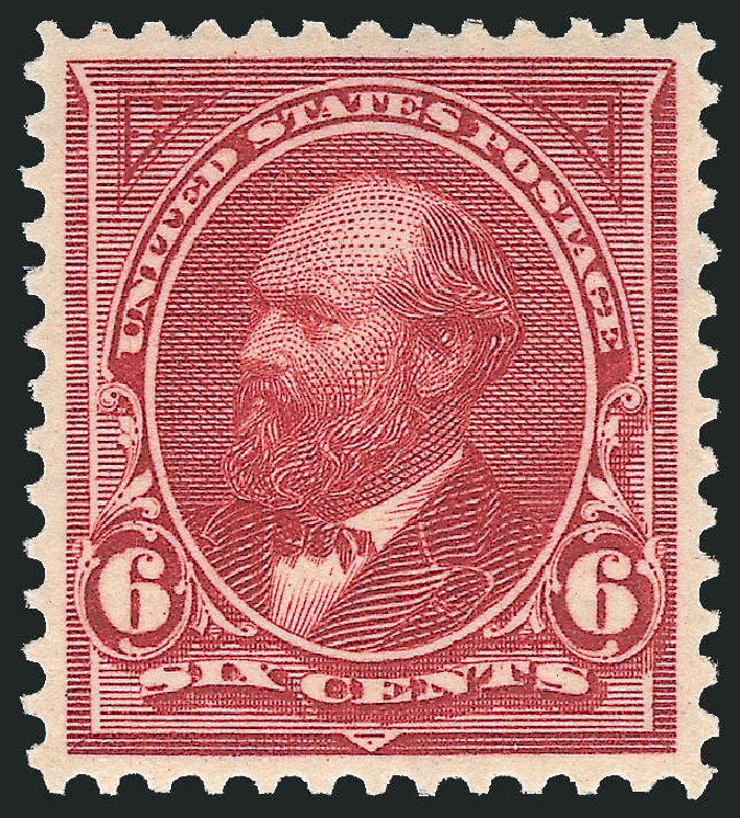 Price of US Stamp Scott Cat. #282: 1898 6c Garfield. Robert Siegel Auction Galleries, Feb 2015, Sale 1092, Lot 1222