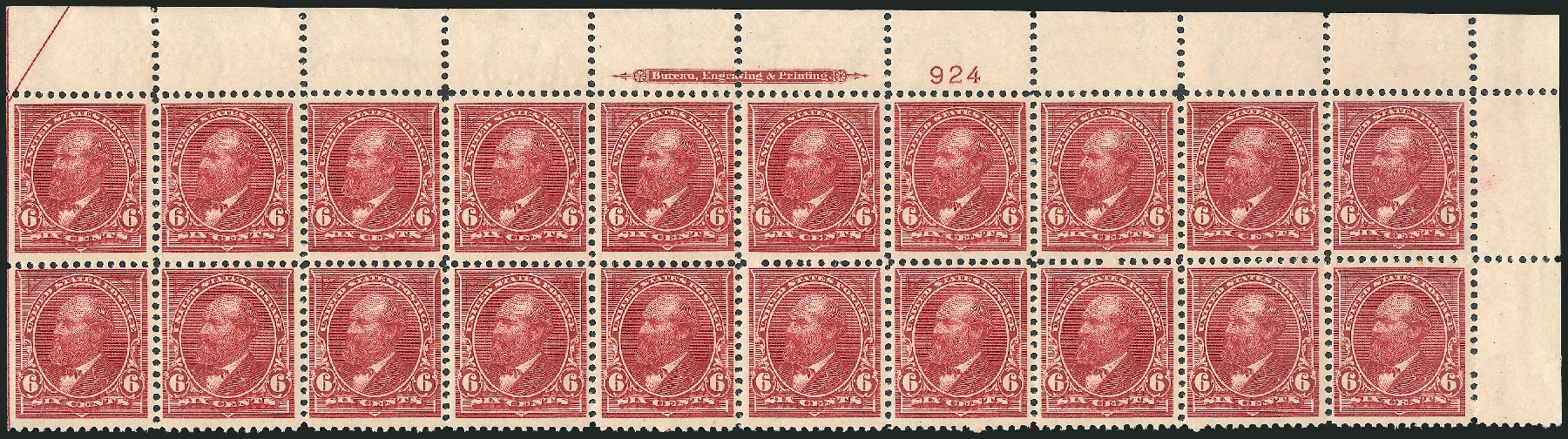 US Stamp Prices Scott Catalog #282 - 6c 1898 Garfield. Robert Siegel Auction Galleries, Feb 2015, Sale 1092, Lot 1223