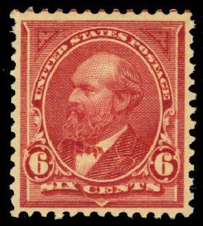 US Stamp Price Scott Catalog #282 - 6c 1898 Garfield. Daniel Kelleher Auctions, Jan 2015, Sale 663, Lot 1556