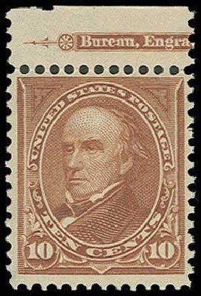 Costs of US Stamp Scott Catalog 282C: 10c 1898 Webster. H.R. Harmer, Jun 2013, Sale 3003, Lot 1177