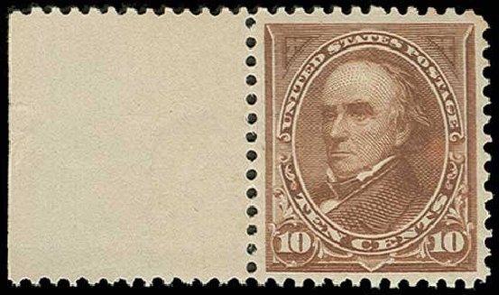 US Stamps Values Scott 282C - 1898 10c Webster. H.R. Harmer, Jun 2013, Sale 3003, Lot 1178