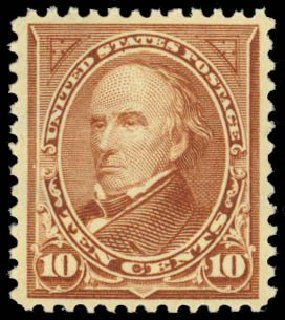 Price of US Stamps Scott Cat. # 282C - 1898 10c Webster. Daniel Kelleher Auctions, May 2014, Sale 652, Lot 428