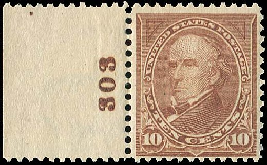 US Stamps Values Scott Cat. #282C: 10c 1898 Webster. Regency-Superior, Jan 2015, Sale 109, Lot 1018