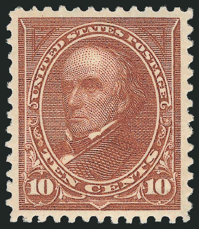 Values of US Stamps Scott Catalog # 282C: 10c 1898 Webster. Robert Siegel Auction Galleries, Nov 2012, Sale 1034, Lot 268