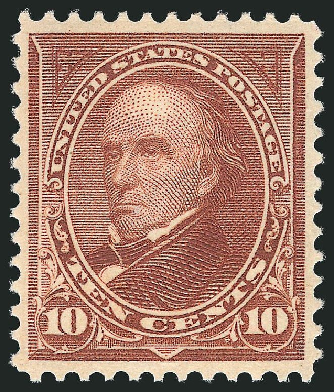 US Stamps Price Scott Catalogue 282C: 10c 1898 Webster. Robert Siegel Auction Galleries, Jul 2013, Sale 1050, Lot 418