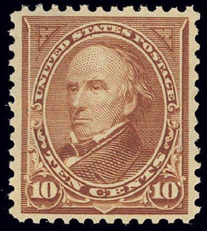 US Stamps Value Scott Catalog #282C - 1898 10c Webster. Daniel Kelleher Auctions, Feb 2013, Sale 634, Lot 189