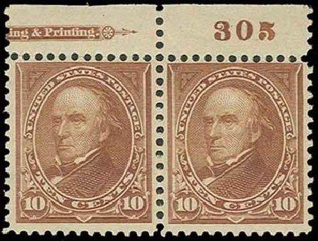 US Stamp Prices Scott #282C: 10c 1898 Webster. H.R. Harmer, Nov 2013, Sale 3004, Lot 1200