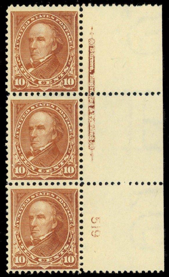 Prices of US Stamps Scott 282C - 10c 1898 Webster. Daniel Kelleher Auctions, Mar 2013, Sale 635, Lot 400