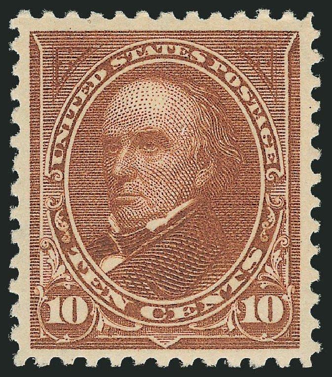 Price of US Stamp Scott Catalogue #282C: 1898 10c Webster. Robert Siegel Auction Galleries, Nov 2013, Sale 1057, Lot 870