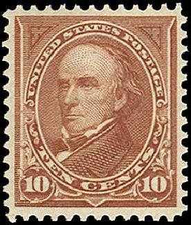 US Stamp Prices Scott Catalogue 282C: 10c 1898 Webster. Regency-Superior, Nov 2014, Sale 108, Lot 581