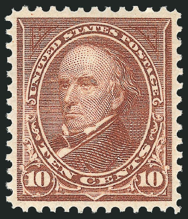 US Stamp Values Scott 282C: 10c 1898 Webster. Robert Siegel Auction Galleries, Sep 2014, Sale 1078, Lot 414