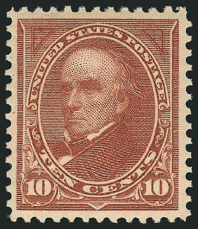 US Stamps Prices Scott Catalogue # 282C - 1898 10c Webster. Robert Siegel Auction Galleries, Feb 2015, Sale 1092, Lot 1224