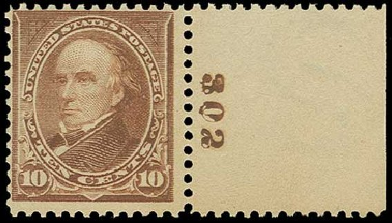 Value of US Stamp Scott Catalogue #282C - 1898 10c Webster. H.R. Harmer, Jun 2015, Sale 3007, Lot 3275