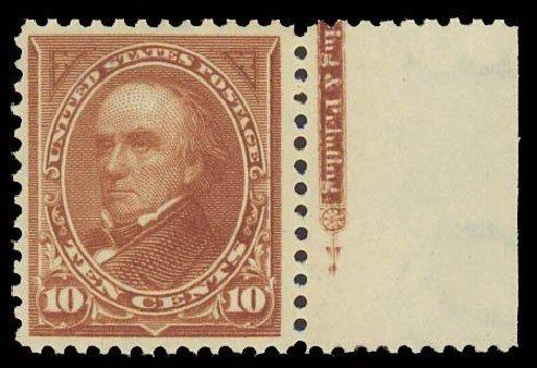 US Stamps Prices Scott Catalogue #282C - 1898 10c Webster. Daniel Kelleher Auctions, Sep 2013, Sale 639, Lot 3375