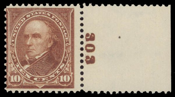 Prices of US Stamp Scott Cat. 282C: 1898 10c Webster. Daniel Kelleher Auctions, May 2015, Sale 669, Lot 2805