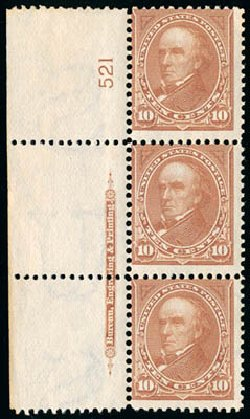 Values of US Stamp Scott Cat. # 282C - 10c 1898 Webster. Schuyler J. Rumsey Philatelic Auctions, Apr 2015, Sale 60, Lot 2762