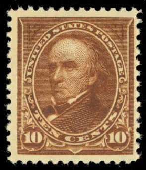 US Stamp Value Scott Catalog #282C - 1898 10c Webster. Daniel Kelleher Auctions, Sep 2013, Sale 639, Lot 1103