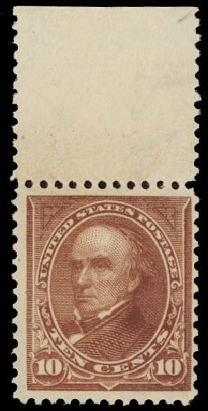 Price of US Stamp Scott Catalogue # 282C - 10c 1898 Webster. Daniel Kelleher Auctions, May 2015, Sale 669, Lot 2806