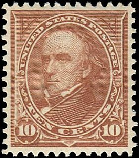 US Stamps Prices Scott Cat. 282C: 10c 1898 Webster. Regency-Superior, Jan 2015, Sale 109, Lot 1016