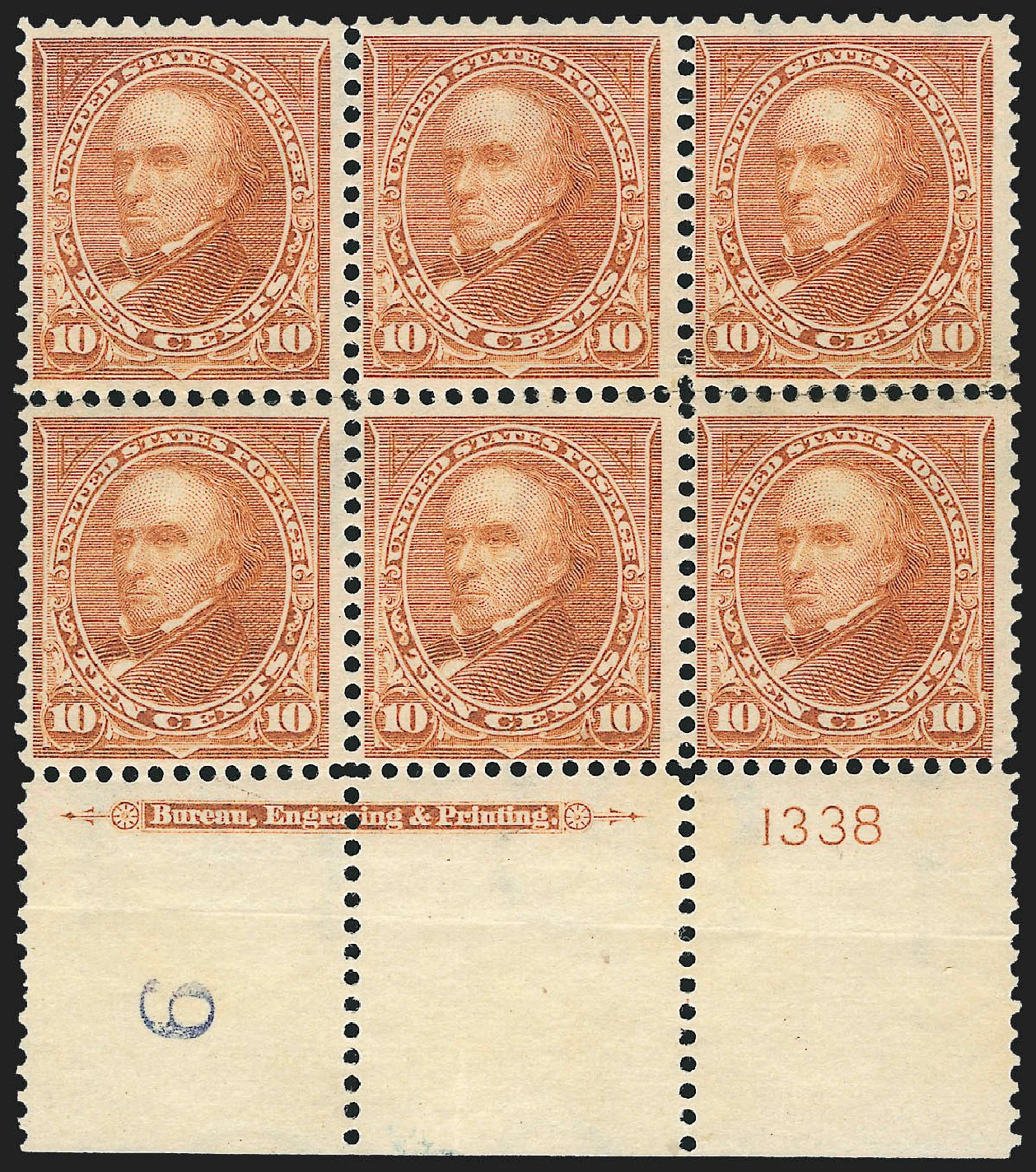 US Stamp Prices Scott #283 - 10c 1898 Webster. Robert Siegel Auction Galleries, Jul 2015, Sale 1107, Lot 378