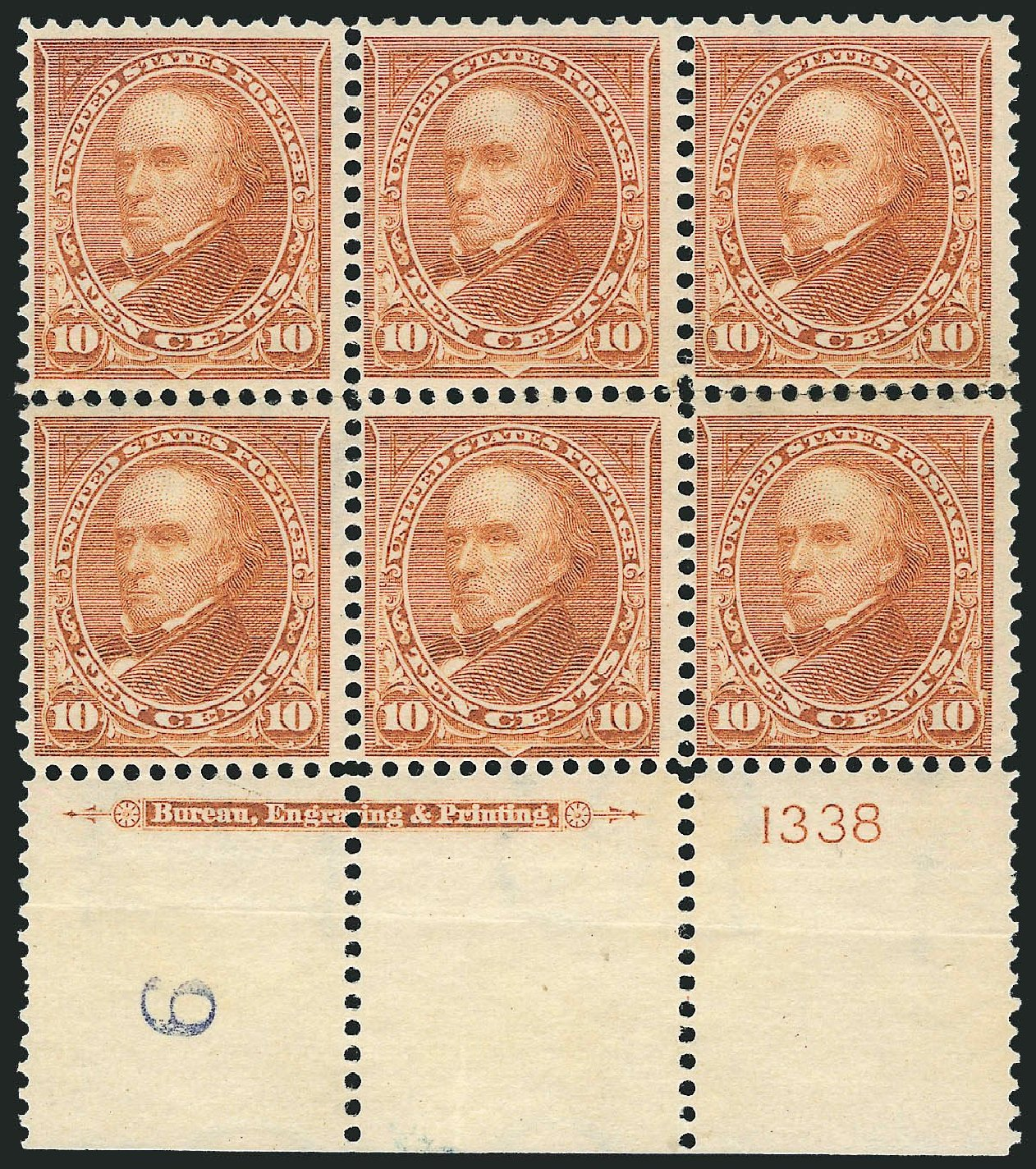 Price of US Stamps Scott Catalogue #283 - 1898 10c Webster. Robert Siegel Auction Galleries, Nov 2014, Sale 1084, Lot 3651