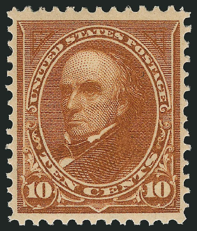 Values of US Stamp Scott Cat. # 283: 10c 1898 Webster. Robert Siegel Auction Galleries, Apr 2015, Sale 1096, Lot 495