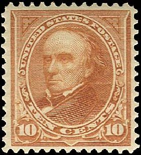 Values of US Stamps Scott # 283 - 1898 10c Webster. Regency-Superior, Nov 2014, Sale 108, Lot 582
