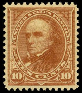 Prices of US Stamps Scott Catalogue # 283: 10c 1898 Webster. Daniel Kelleher Auctions, May 2014, Sale 653, Lot 2196