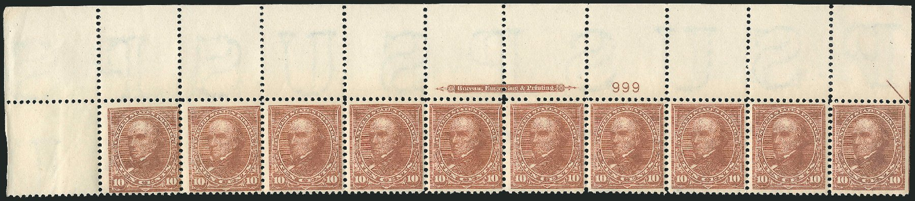 Values of US Stamp Scott 283 - 10c 1898 Webster. Robert Siegel Auction Galleries, Feb 2015, Sale 1092, Lot 1226