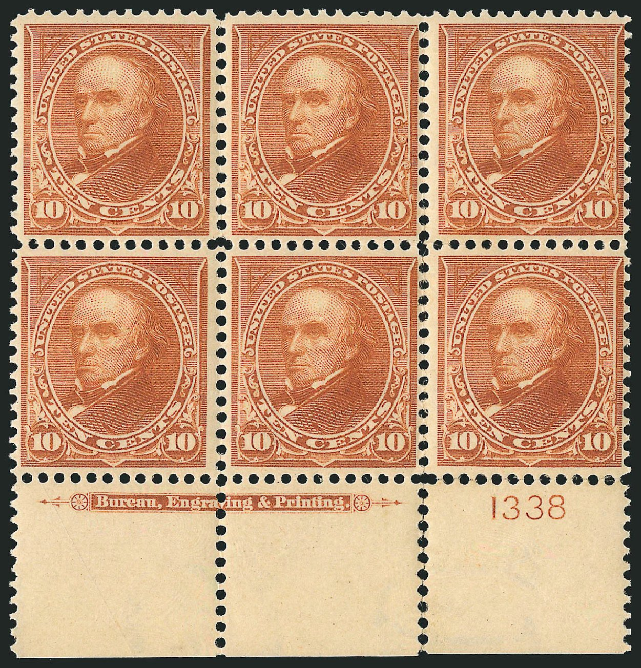 Value of US Stamp Scott Catalog #283: 10c 1898 Webster. Robert Siegel Auction Galleries, Apr 2015, Sale 1096, Lot 496