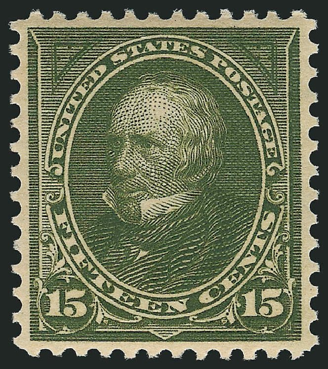 US Stamps Values Scott 284: 1898 15c Clay. Robert Siegel Auction Galleries, Feb 2015, Sale 1092, Lot 1227
