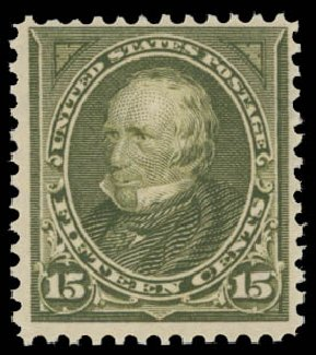US Stamp Price Scott Catalogue # 284 - 15c 1898 Clay. Daniel Kelleher Auctions, May 2015, Sale 669, Lot 2808