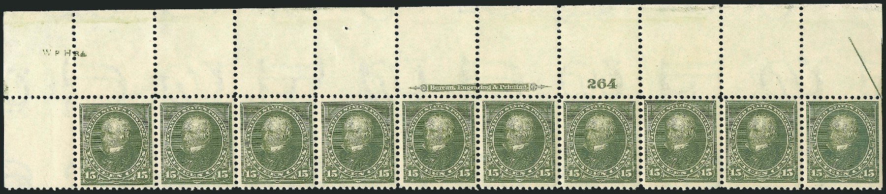 Prices of US Stamps Scott Cat. 284 - 1898 15c Clay. Robert Siegel Auction Galleries, Feb 2015, Sale 1092, Lot 1228