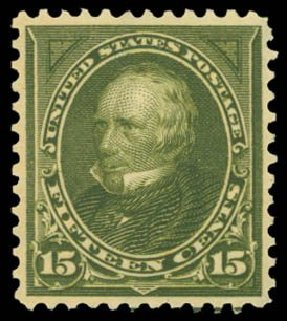 Costs of US Stamp Scott Catalogue # 284 - 15c 1898 Clay. Daniel Kelleher Auctions, Dec 2014, Sale 661, Lot 251