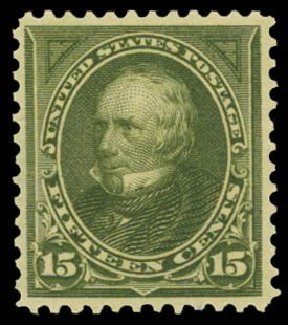 Values of US Stamps Scott # 284 - 1898 15c Clay. Daniel Kelleher Auctions, Dec 2014, Sale 661, Lot 252