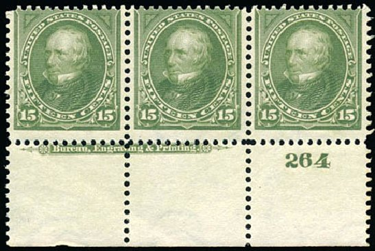 US Stamps Value Scott Catalogue # 284 - 1898 15c Clay. Schuyler J. Rumsey Philatelic Auctions, Apr 2015, Sale 60, Lot 2763