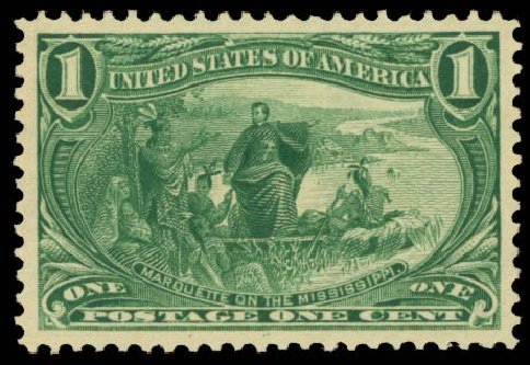 US Stamps Values Scott Catalogue 285: 1c 1898 Trans Mississippi Exposition. Daniel Kelleher Auctions, Sep 2014, Sale 655, Lot 358
