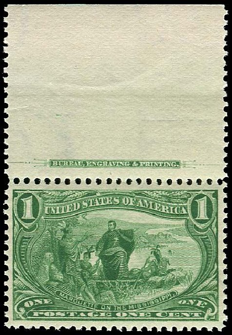 US Stamps Prices Scott # 285: 1898 1c Trans Mississippi Exposition. Regency-Superior, Jan 2015, Sale 109, Lot 1029
