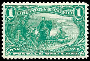 Values of US Stamps Scott 285 - 1c 1898 Trans Mississippi Exposition. Schuyler J. Rumsey Philatelic Auctions, Apr 2015, Sale 60, Lot 2279