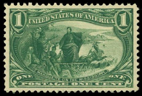 Prices of US Stamp Scott # 285 - 1898 1c Trans Mississippi Exposition. Daniel Kelleher Auctions, Oct 2014, Sale 660, Lot 2270