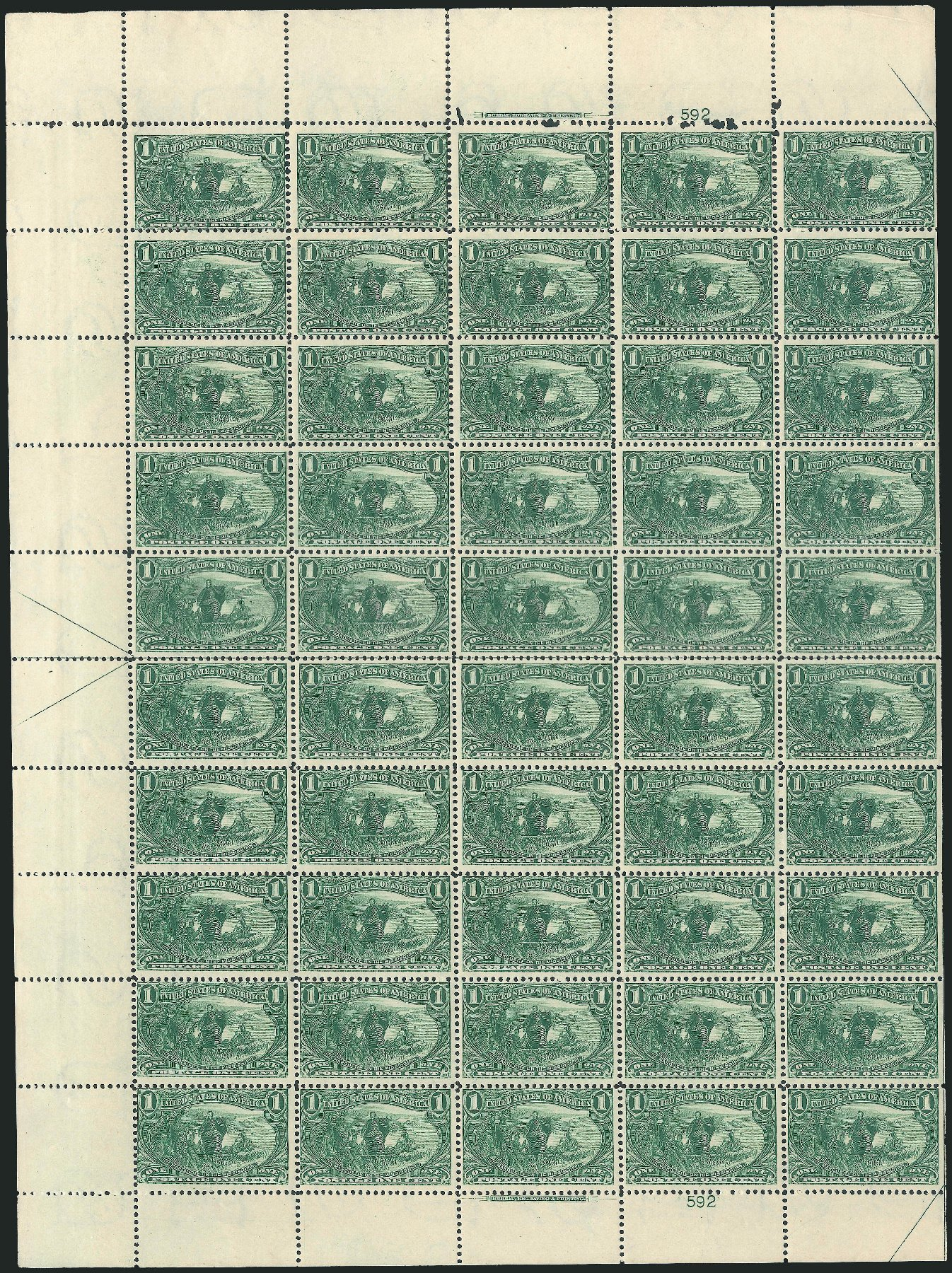 Costs of US Stamps Scott Catalog 285: 1c 1898 Trans Mississippi Exposition. Robert Siegel Auction Galleries, Feb 2015, Sale 1092, Lot 1231