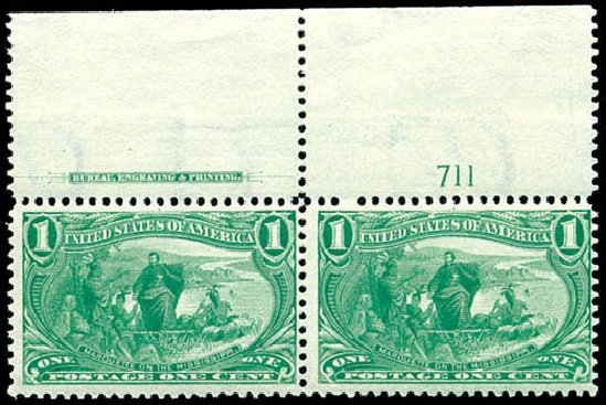Values of US Stamp Scott #285 - 1898 1c Trans Mississippi Exposition. Schuyler J. Rumsey Philatelic Auctions, Apr 2015, Sale 60, Lot 2765
