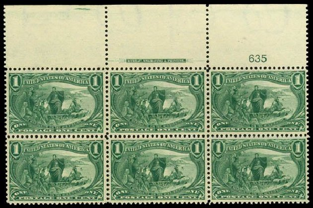 US Stamp Price Scott Cat. #285: 1898 1c Trans Mississippi Exposition. Daniel Kelleher Auctions, May 2014, Sale 653, Lot 2392