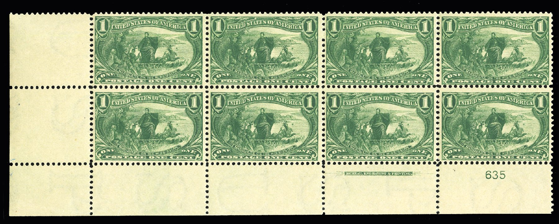 Price of US Stamp Scott Catalogue #285: 1898 1c Trans Mississippi Exposition. Cherrystone Auctions, Jul 2015, Sale 201507, Lot 2096