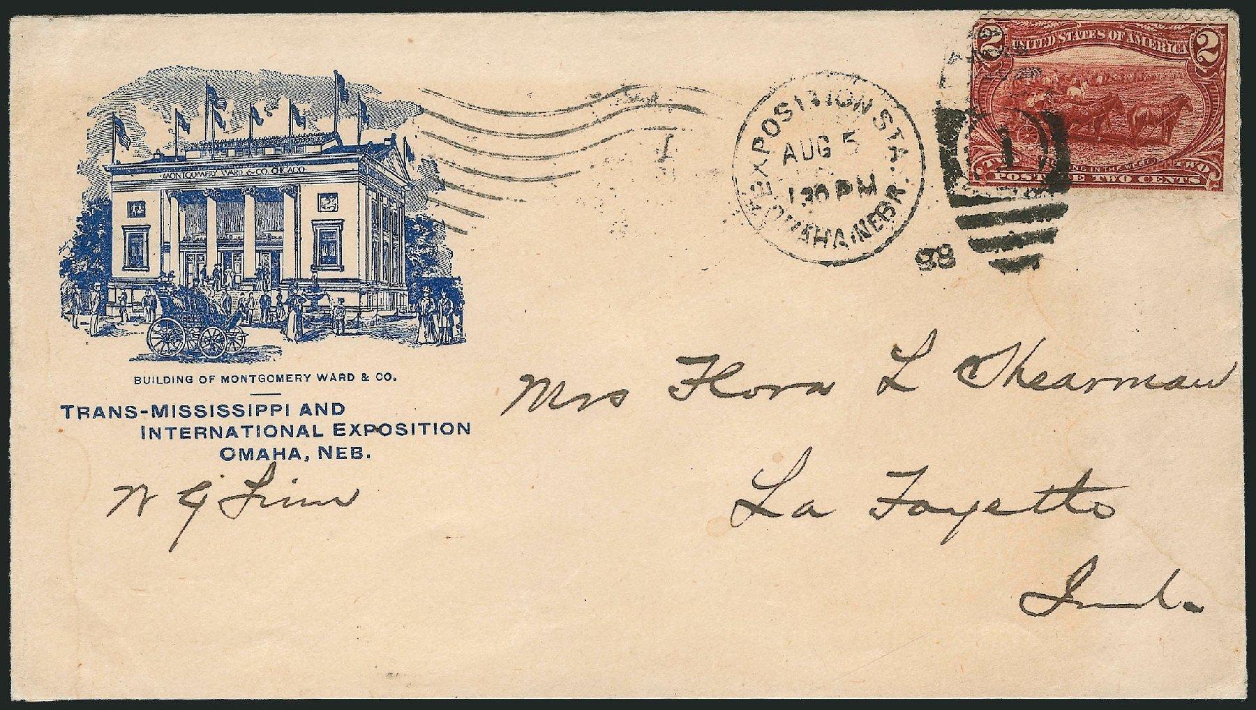 US Stamp Values Scott Cat. #286: 1898 2c Trans Mississippi Exposition. Robert Siegel Auction Galleries, Nov 2013, Sale 1056, Lot 369