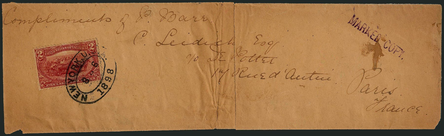 US Stamp Value Scott Catalogue 286: 2c 1898 Trans Mississippi Exposition. Robert Siegel Auction Galleries, Nov 2013, Sale 1056, Lot 390