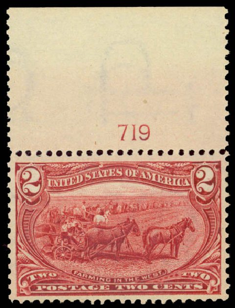 Value of US Stamps Scott Cat. #286 - 1898 2c Trans Mississippi Exposition. Daniel Kelleher Auctions, May 2015, Sale 669, Lot 2811