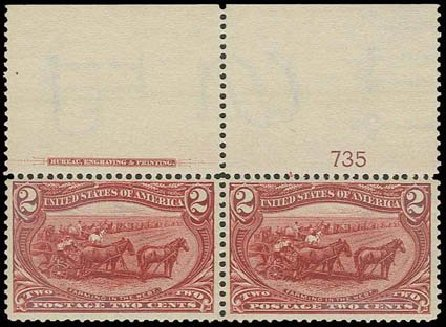 Values of US Stamps Scott Cat. #286: 2c 1898 Trans Mississippi Exposition. H.R. Harmer, Nov 2013, Sale 3004, Lot 1204